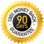 90 day money back guarantee badge